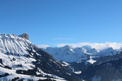 Landscape, Nature, Panorama, Sky, Snow, Mountains