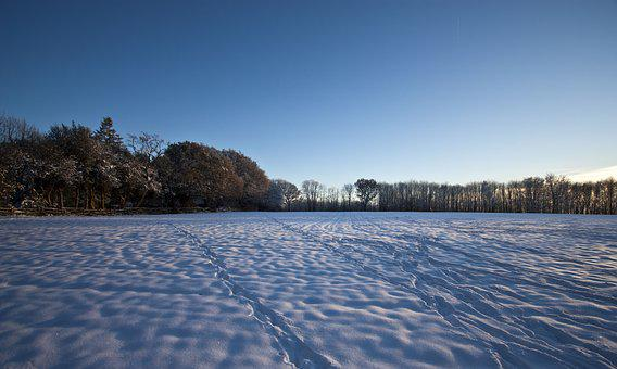 Snow, Field, Winter, England, Landscape, Country