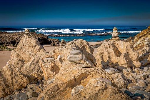 Beach, Stones, Tower, Zen, Rock, Coast, Pebbles, Ocean