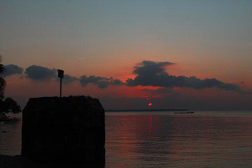 Sunset, Beach, The Sea, Island, View, Travel, The Sky