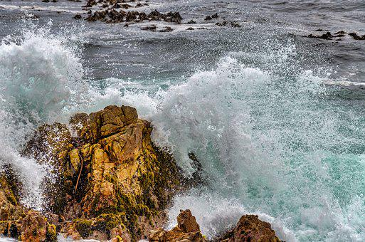 Ocean, Sea, Waves, Crashing, Splash, Turquoise, Wave