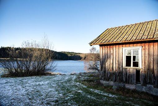 Wood, House, Old, Building, Window, Lake, Ramshackle