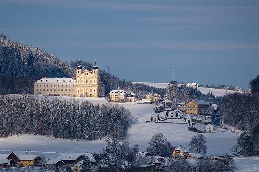 Winter, Landscape, Maria Plain, Salzburg, Austria