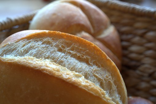 Roll, Breakfast, Fresh, Basket, Flour, Bake, Baker