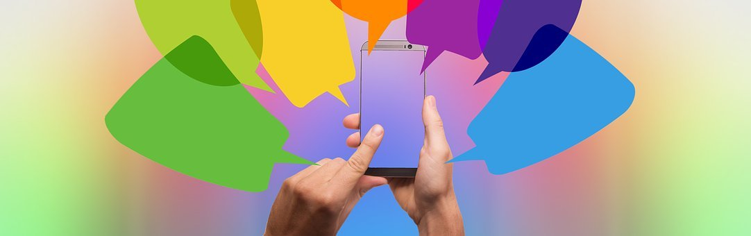 Balloons, Smartphone, Hand, Dialogue, Talk, Graphic