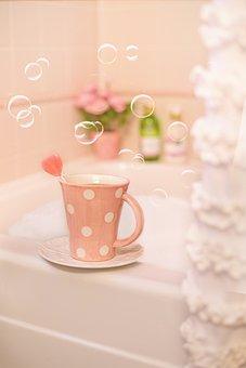 Bubble Bath, Bath, Pink, Valentine's Day, Romantic