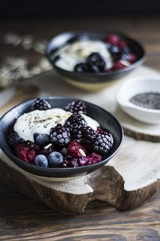 Breakfast, Dessert, Yogurt, Delicious, Berries, Jagoda