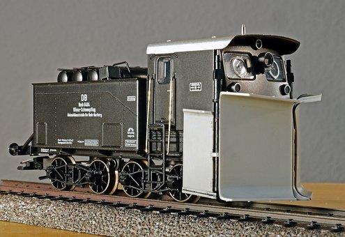 Model Railway, Climate-snow Plough, Scale H0, Model
