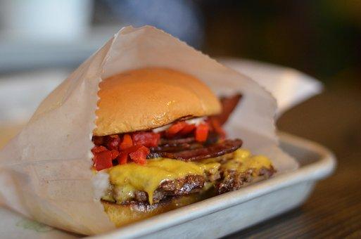 Burger, Cheeseburger, Food, Hamburger, Sandwich, Lunch