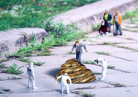 Forensics, Poop, Miniature Figures, Walk, Gold, Police