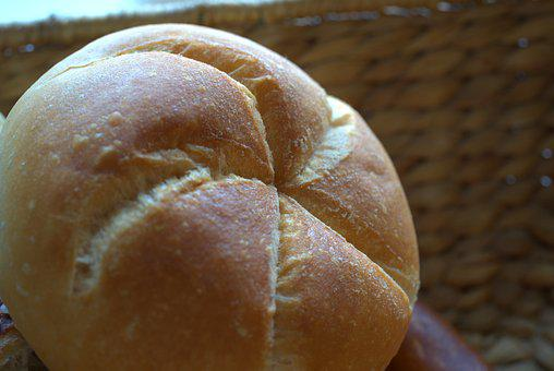Roll, Fresh, Breakfast, Basket, Flour, Bake, Baker