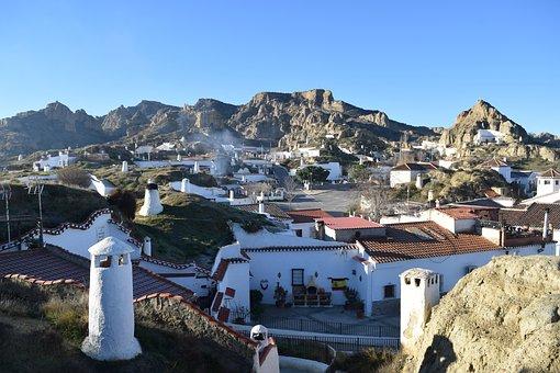 Dawn, Landscape, Cave House, Guadix, People, Tourism
