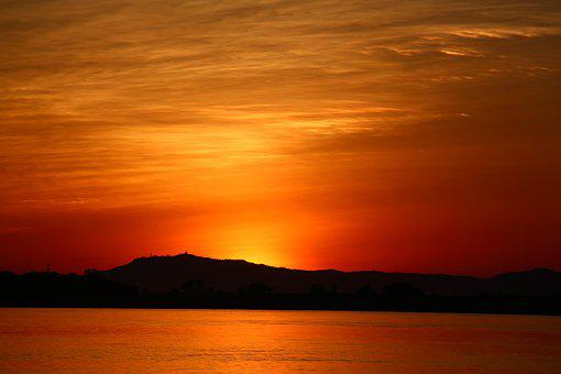 Sunset, Orange, Sky Orange, Landscape, Orange Sky