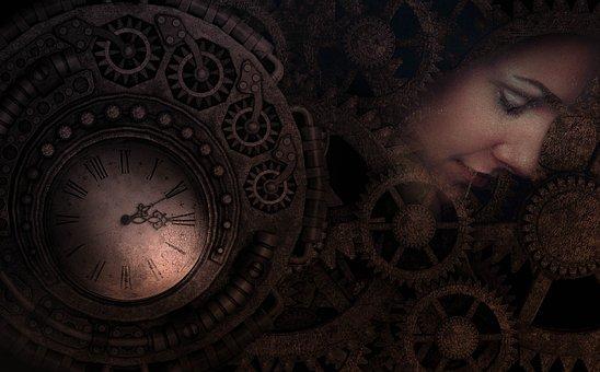Time, Fantasy, Relative, Clock, Woman, Machine, Physics