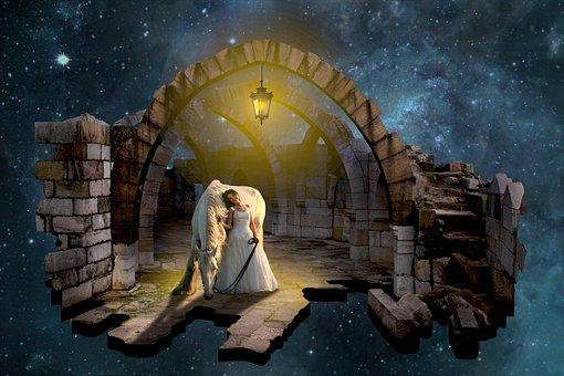 Fantasy, Magic, Woman, Mystic, Dream, Horse, Ruin