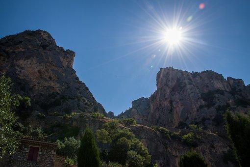 Morning, Sunrise, Sunshine, Sun Rays, Mountain, Cliff