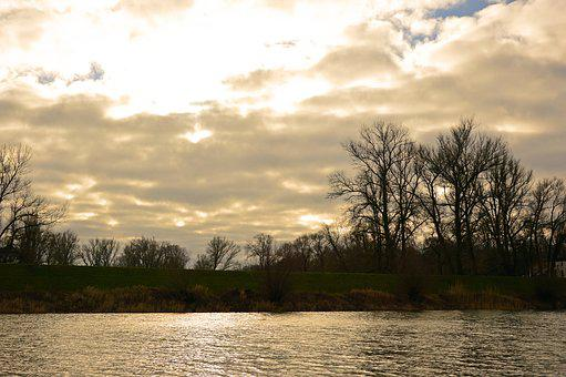 Landscape, River, River Landscape, Bank, Nature, Clouds