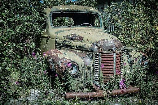 Scrap Car, Oldtimer, Auto, Bush, Scrap, Car Wreck, Rust