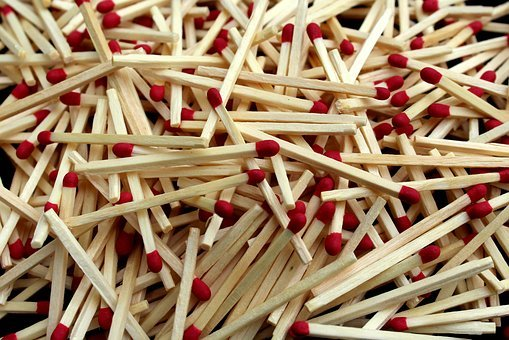 Matches, Match, Head, Burn, Sulfur, Kindle, Red