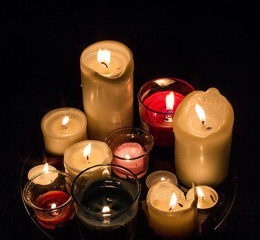 Candles, Light, Fire, Red, Green, Flame, Burn, Hot