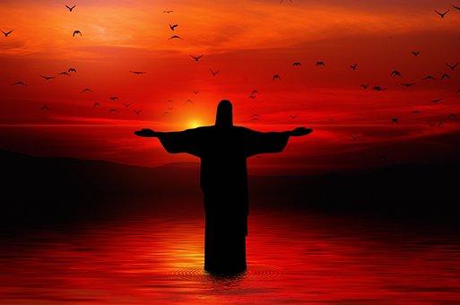 Christ, Statue, Birds, Sea, Redeemer, Faith, God, Jesus