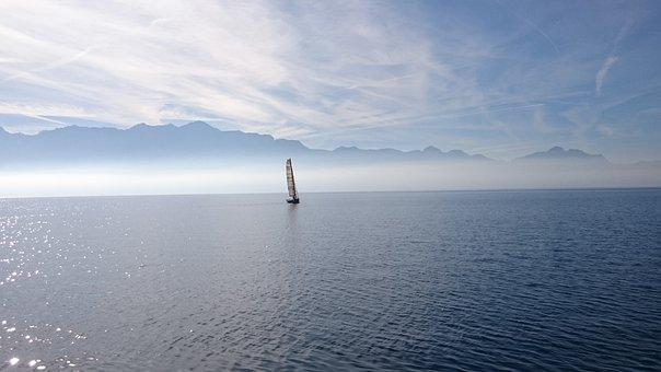 Sailboat, Lake, Sailing, Boat, Sky, Clouds, Water