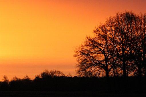 Morgenrot, Sunrise, Nature, Morgenstimmung, Skies, Sky
