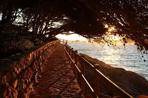 Sunrise, Sea, Spain, Calm, Side, Landscape, Twilight