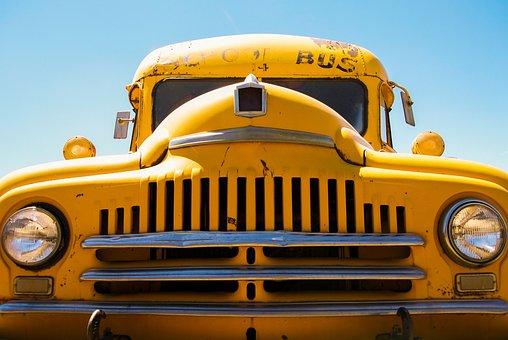 School Bus, Yellow, Transport, School, Vehicle, Traffic