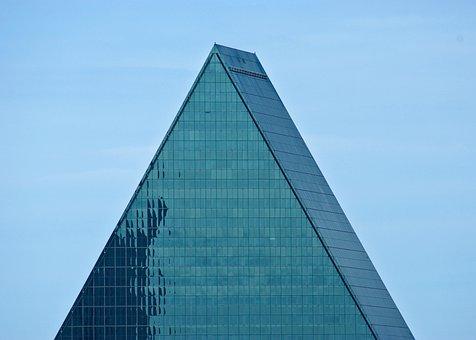 Fountain Place Tip, Building, Dallas, Texas, Urban