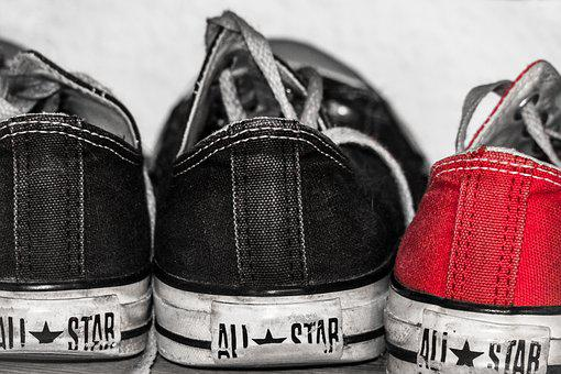 Shoes, Chuck's, Used, Worn, Cloth Shoes, Converse, Teen
