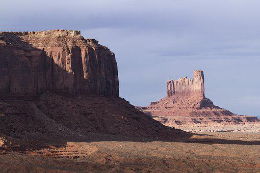 Monument Valley, Arizona, Utah, Navajo, Desert, Rock