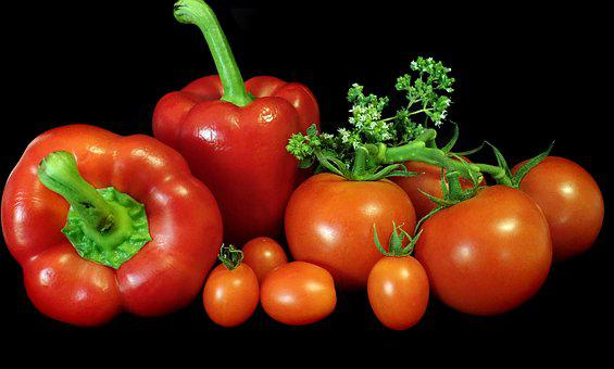 Vegetables, Tomatoes, Capsicum, Cooking, Healthy, Food