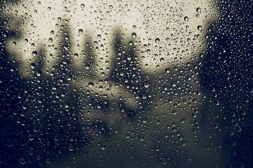 Glass, Drops, Rain, Water, Wet, Rainy, Drip, Weather