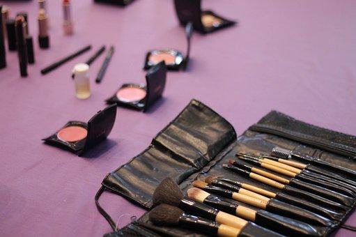 Make Up, Brush, Cosmetics, Woman