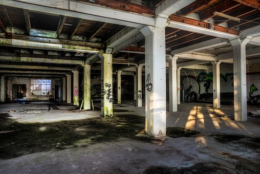 Factory, Empty, Abandoned, Building, Dilapidated, Old