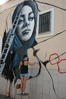 Murals, Art, Graffiti, Spray, Creativeness, Color