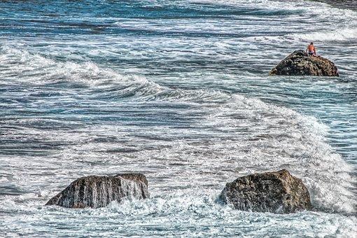 Atlantic, Nature, Landscape, Sea, Wave, Spray, Foam
