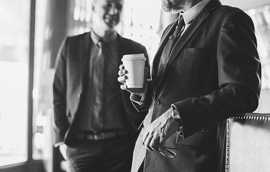 Adult, Beard, Beverage, Black And White, Business