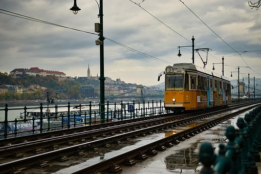 Budapest, Tram, Europe, Transport, Travel, Cityscape