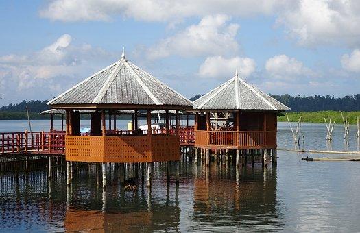 Hut, Tourist Hut, Creek, Mangroves, Tourism, Scenic