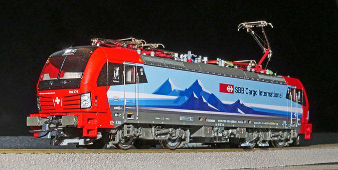 Railway, Model Train, Electric Locomotive, Modern