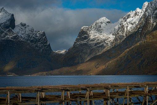 Lofoten, Mountains, Scenic, Fjord, Scandinavia, Coast