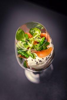 Breakfast, Egg, Veiled Eggs, Salmon, Food