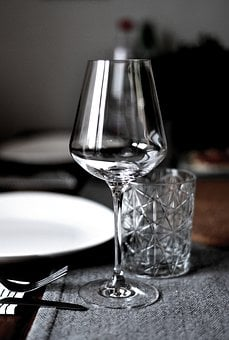 Glass, Wine Glass, Cover, Gedeckter Table, Drink