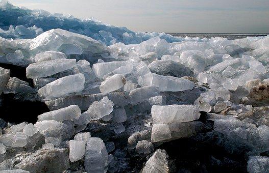 Shelf Ice, Urk, Ijsselmeer, Ice Floes, Ice, Winter