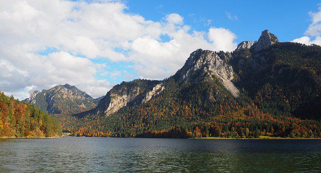 Mountain, Lake, Sky, Forest, Fall, Hiking, Nature