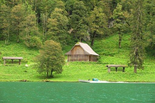Königssee, Nature, Lake, Landscape, Forest, Holidays