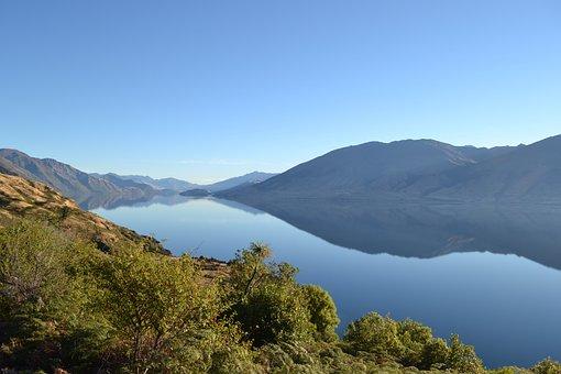 New Zealand, Lake, Landscape, Nature, Water