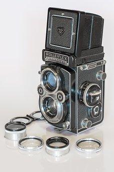 Rolleiflex, Camera, Photography, Photograph, Lens
